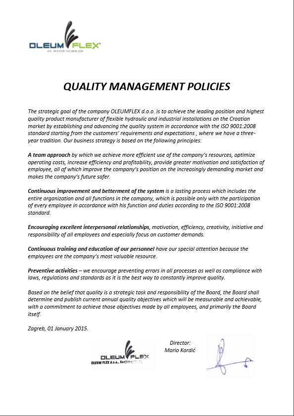 upravljanje kvalitetom